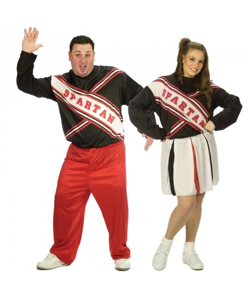 Adult SNL Spartan Cheerleaders Couples Womens Plus Size Costume