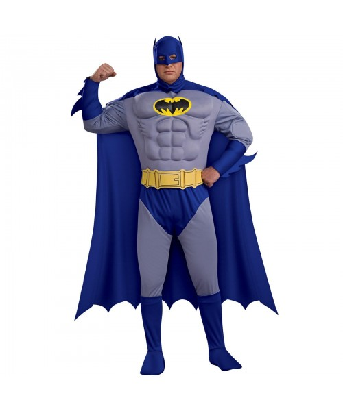 Batman Deluxe Muscle Chest Mens Plus Size Costume