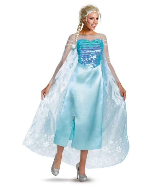 Disney Frozen Adult Elsa Deluxe Womens Plus Size Costume
