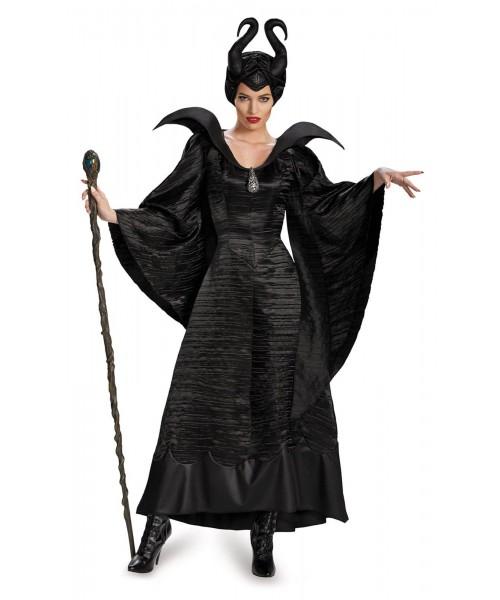 Maleficent Deluxe Christening Black Gown Womens Plus Size Costume