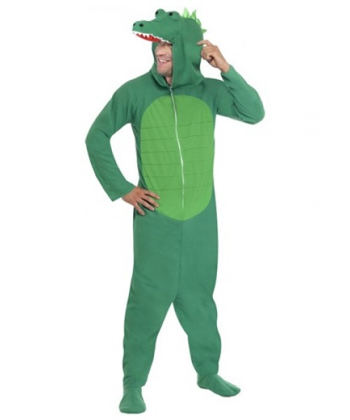 Mens Adult Crocodile Plus Size Costume