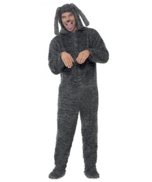 Mens Adult Fluffy Dog Plus Size Costume