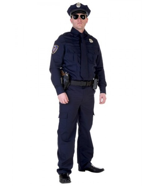 Mens Authentic Cop Plus Size Costume