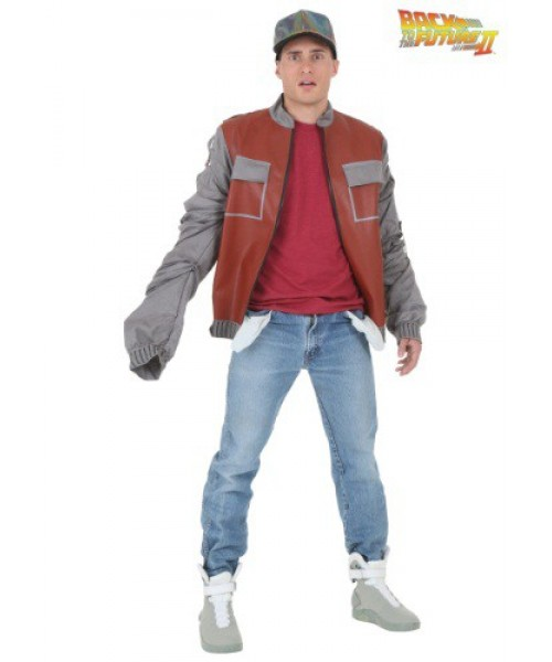 Mens Back to The Future II Marty McFly Jacket Plus Size Costume