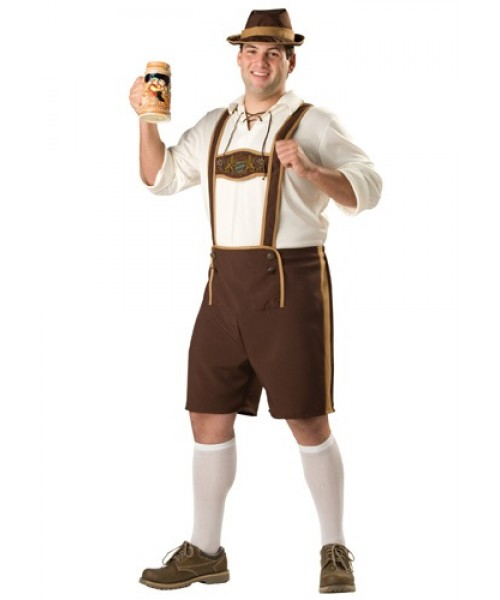 Mens Bavarian Guy Plus Size Costume