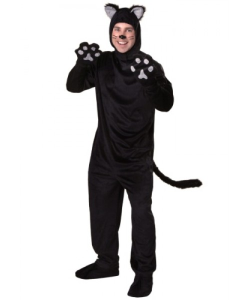 Mens Black Cat Plus Size Costume