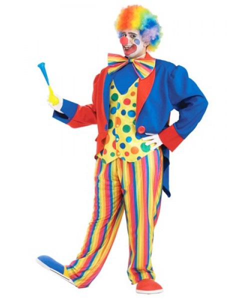 Mens Clown Plus Size Costume