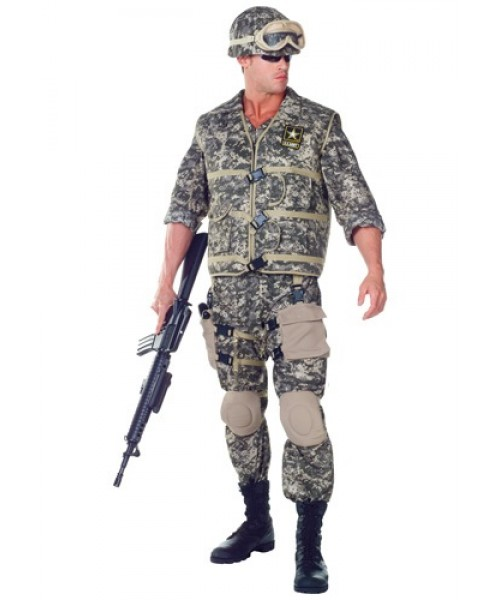 Mens Deluxe U.S. Army Ranger Plus Size Costume