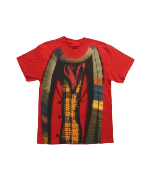 Mens Doctor Who 4th Doctor  T Shirt Plus Size Costume