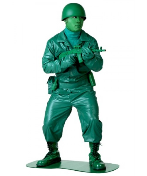 Mens Green Army Man Plus Size Costume