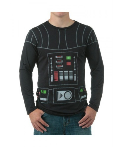 Mens I Am Darth Vader Long Sleeve  Tee Plus Size Costume