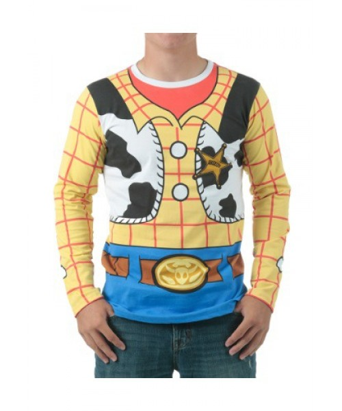 Mens I Am Woody Long Sleeved T Shirt Plus Size Costume