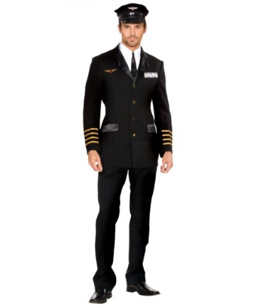 Mens Mile High Pilot Plus Size Costume