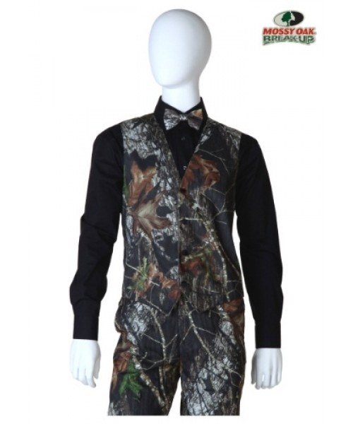 Mens Mossy Oak Open Back Vest Plus Size Costume