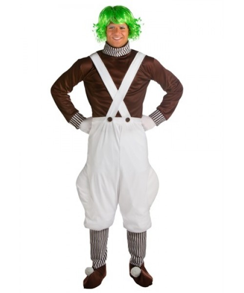 Mens Oompa Loompa Candy Creator Plus Size Costume