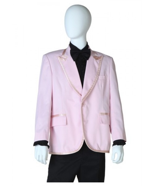 Mens Pink Tuxedo Coat Plus Size Costume