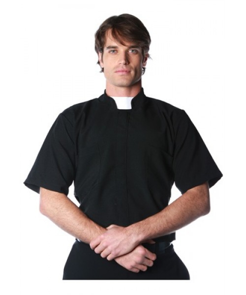 Mens Priest Shirt Plus Size Costume