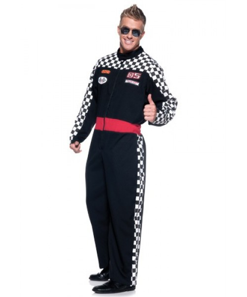 Mens Race Car Driver Plus Size Costume
