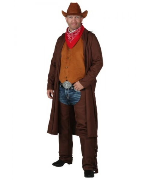 Mens Rancher Cowboy Plus Size Costume