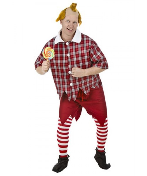 Mens Red Munchkin Plus Size Costume