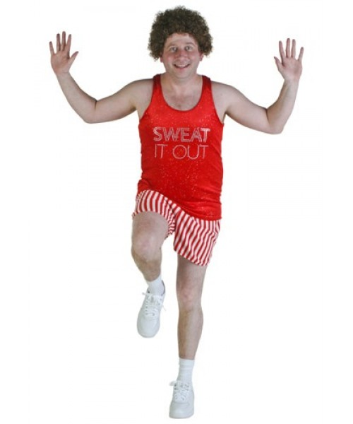 Mens Richard Simmons Workout Video Star Plus Size Costume