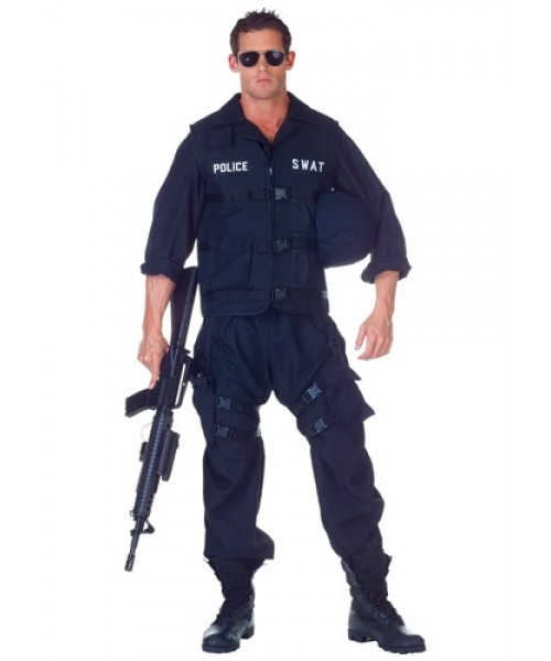 Mens SWAT Jumpsuit Plus Size Costume