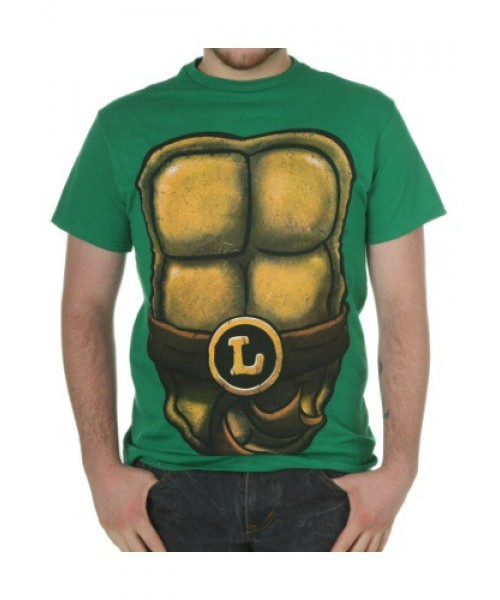 Mens TMNT Leo Detailed  Tee Plus Size Costume