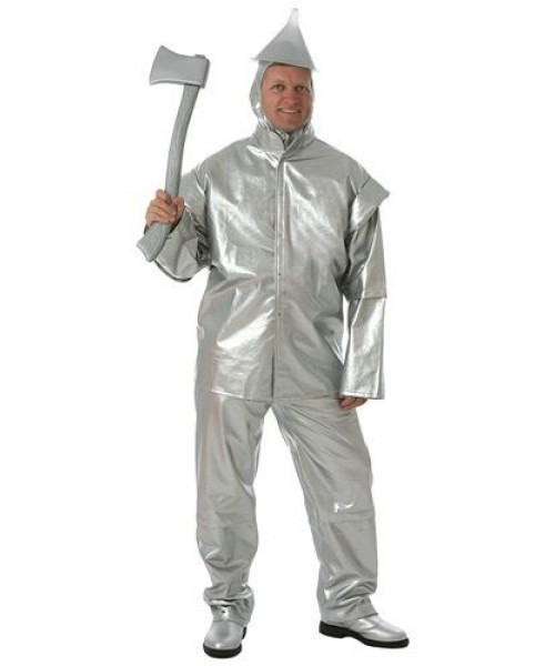 Mens Tin Woodsman Wizar Of Oz Plus Size Costume
