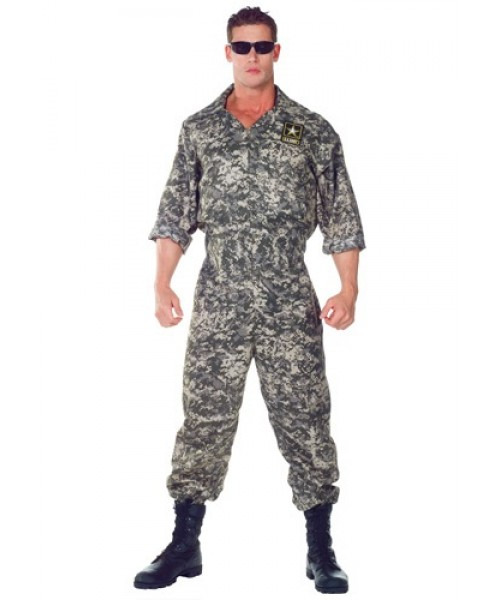 Mens U.S. Army Jumpsuit Plus Size Costume