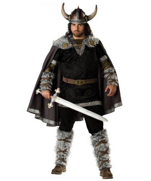 Mens Viking Warrior Plus Size Costume