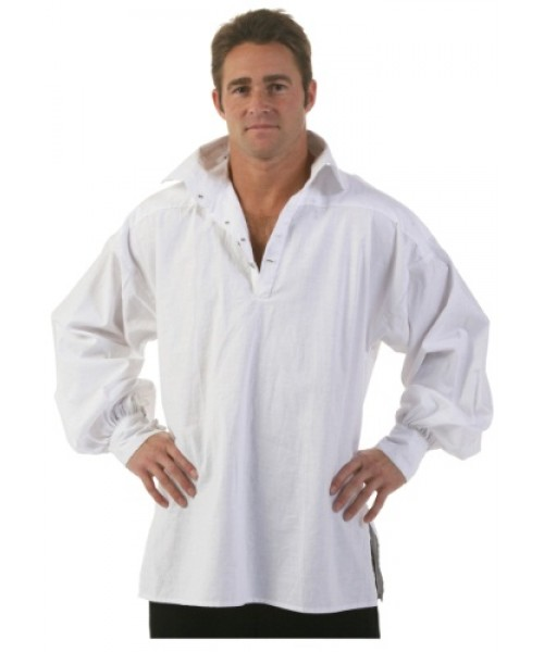 Mens  White Highlander Shirt Plus Size Costume