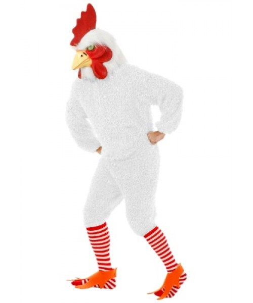 Mens White Rooster Plus Size Costume