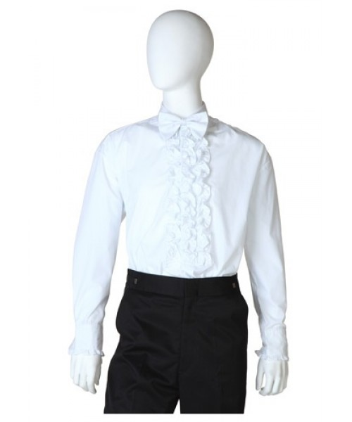 Mens White Tuxedo Shirt Plus Size Costume