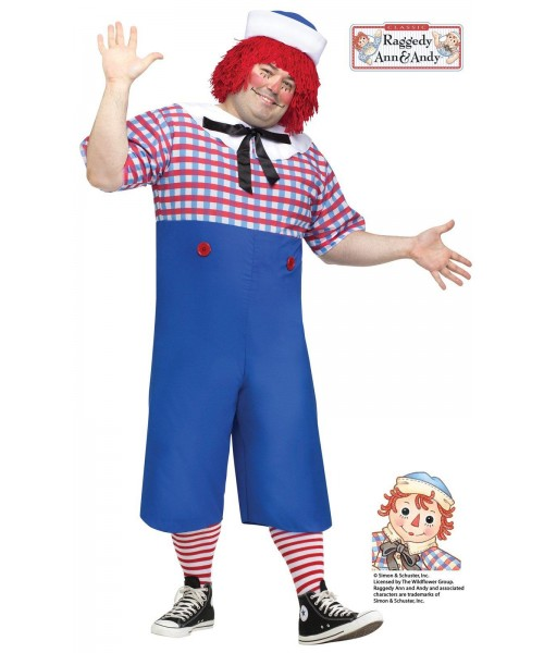 Raggedy Andy Mens Plus Size Costume