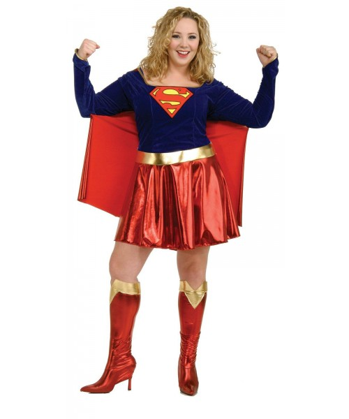 Supergirl Womens Plus Size Costume