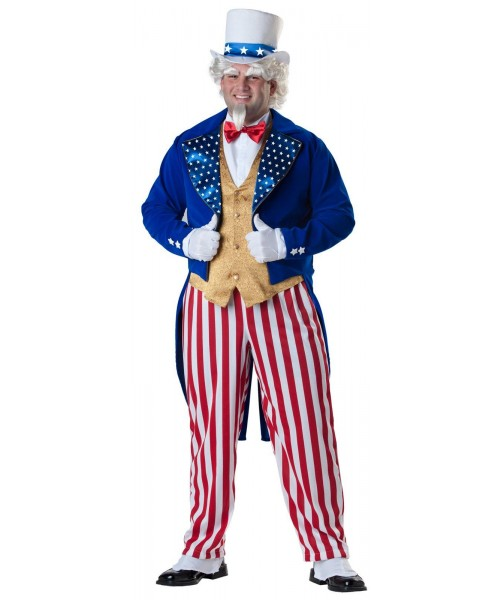 Uncle Sam Elite Collection Mens Plus Size Costume