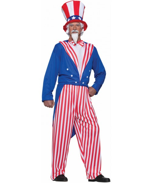 Uncle Sam Mens Plus Size Costume
