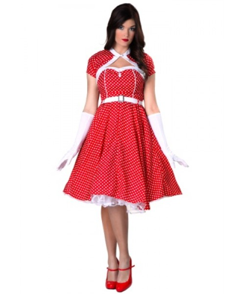 Womens 1950s Sweetheart Dress Plus Size Costume