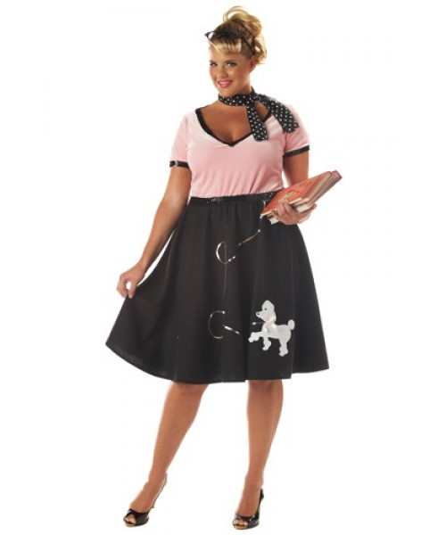 Womens 50s Sweetheart Plus Size Costume