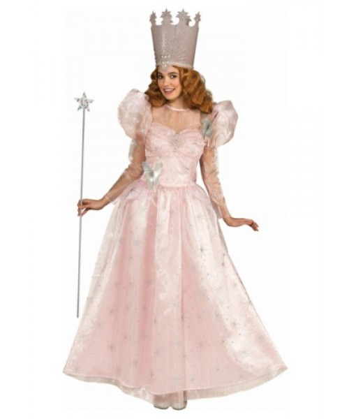 Womens Adult Glinda the Good Witch Deluxe Plus Size Costume