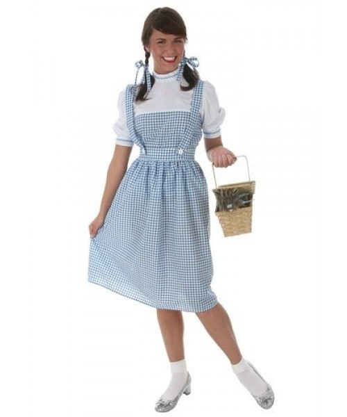 Womens Adult Kansas Girl Plus Size Costume
