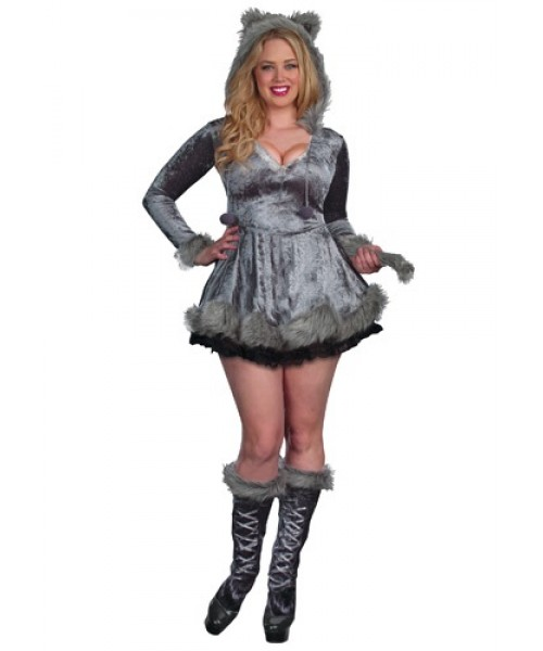 Womens Bad Sexy Wolf Plus Size Costume