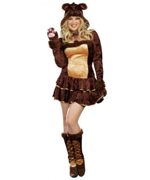 Womens Bear Hugs Plus Size Costume
