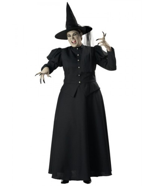 Womens Black Witch Plus Size Costume
