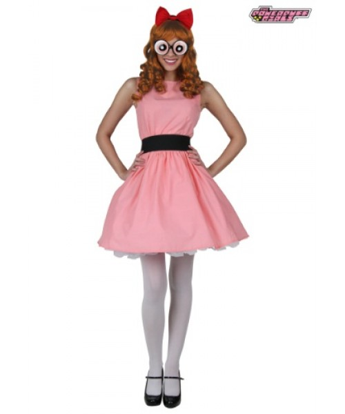 Womens Blossom Powerpuff Girls Plus Size Costume