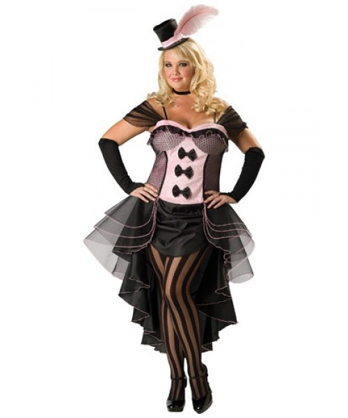 Womens Burlesque Babe Plus Size Costume