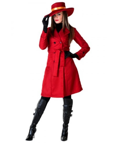 Womens Carmen Sandiego World Traveler Plus Size Costume