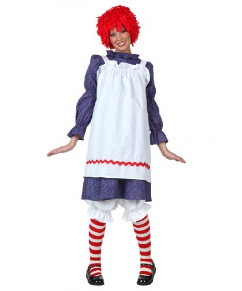 Womens Classic Rag Doll Plus Size Costume
