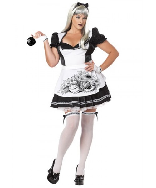 Womens Dark Alice Plus Size Costume