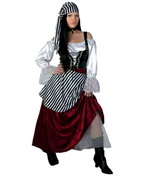 Womens Deluxe Pirate Wench Plus Size Costume